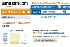 Spore reviews on Amazon.com